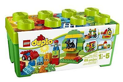 LEGO 10572 DUPLO My First All in One Box of Fun Brick Set, Easy Toy Storage, Pre