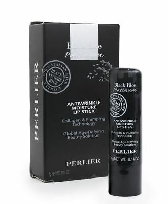 Perlier Black Rice Lip Balm with Collagen Plumping Technology- New in Sealed Box