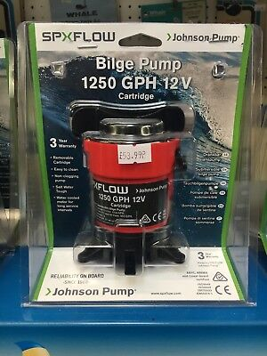 Bilge Pump Johnson L750 Cartridge Boat Yacht Narrowboat Dinghy 12v 19mm 3/4 Inch