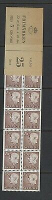 Sweden Scott 583a Complete Booklet Scott $ 15.00  Facit H147B