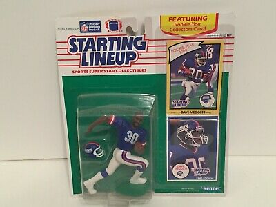 Starting Lineup Card New York Giants Vintage - YELLOW 1990  DAVE MEGGETT