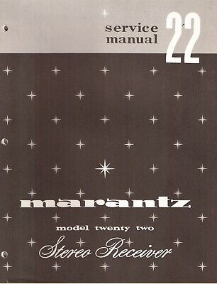 Marantz 22 Stereo Receiver Original Service Manual. Money Back Guaranty