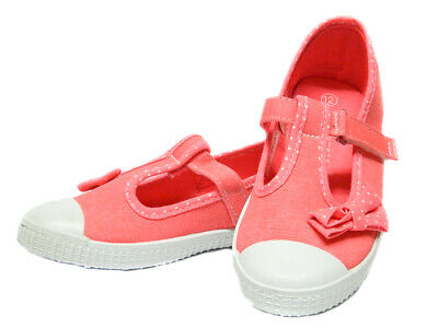 Infant Girls Pink Trainers Plimsolls Canvas Pumps Toddler Baby Shoe Size 4 to 12