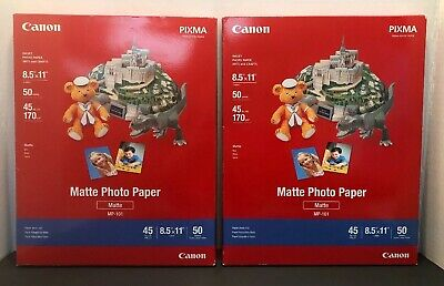 "Canon Matte Photo Paper 100 sheets 8.5""x11"" (lot of 2 boxes, 100 sheets total)"