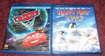 Cars 2 , 2-Disc Set, DVD/Blu-ray)  HAPPY FEET TWO BLU RAY