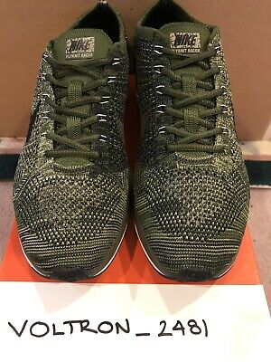 3feded0ad0b9 NEW NIKE FLYKNIT Racer Rough Green Olive Men s Size 10 -  60.00 ...