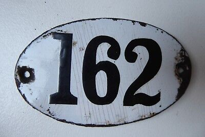 "Antique French Enamel House Number "" 162 """