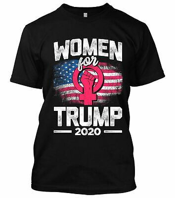 Women for Donald Trump 2020 American Flag Pink Women Vote Usa Elections T-Shirt