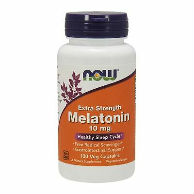 Now Foods Extra Strength Melatonin 10mg - 100 Kapseln, Ruhe, Schlaf