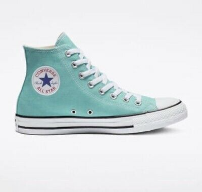 61d28c4b9c8cbf Converse All Star Chuck Taylor High Top  light Aqua  Womens Size 7.5