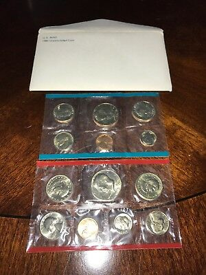 1980 US Mint Uncirculated Coin Set P&D 13 Coins Total OGP