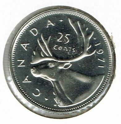 1971 Canada Caribou Proof Like 25 Cent Coin!