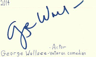 Entertainment Memorabilia Chuck Mccann Actor Comedian Host 1978 Tv Movie Autographed Signed Index Card