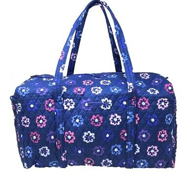 NEW Vera Bradley Large Duffel Bag Ellie Flowers Pattern Foldable Travel NWT