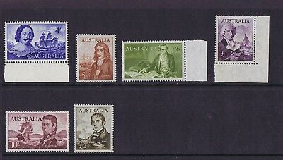 Australian Pre-Decimal Stamps 1963-64 Early Navigators Well-Centred (Set 6) MNH