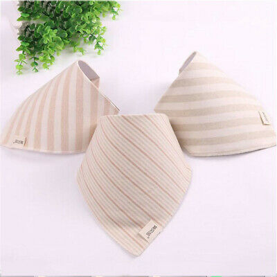 Kids Bibs Striped Printing Soft Bandana Infant Burp Cloths Care Saliva Towel BS