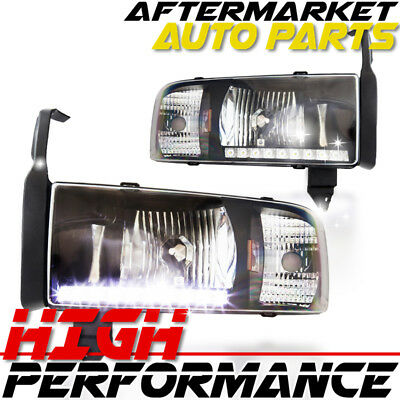 FITS 03-06 MAZDA 6 Black Halo DRL LED Strip Projector