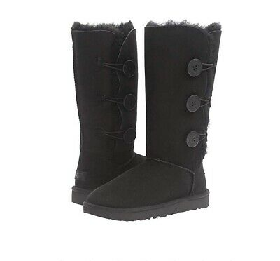 ac00dcc622d UGG AUSTRALIA GIRLS Kids Youth Bailey Button Triplet Boots Black ...