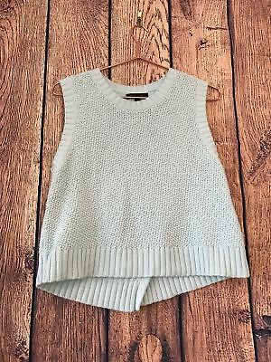 f8f59349fee8aa Banana Republic Women s Sweater Vest Top Size M Turquoise Sleeveless Cable  Knit