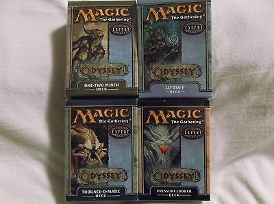 Magic The Gathering Odyssey theme decks. Set of 4 New and Sealed. WOC