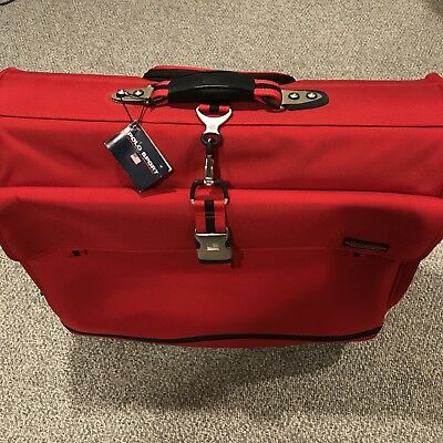 166f92c444d6 NWT Vintage Polo Sport Ralph Lauren Rolling Luggage Red Suitcase 24 x 23 x  10