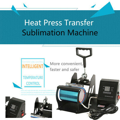 NEW 11oz  Heat Press Transfer Sublimation Machine Dual Digital Coffee Mug Cup US