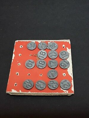 Vintage Arco Hold-Tite window marker numbering tacks  ~ lot of 15