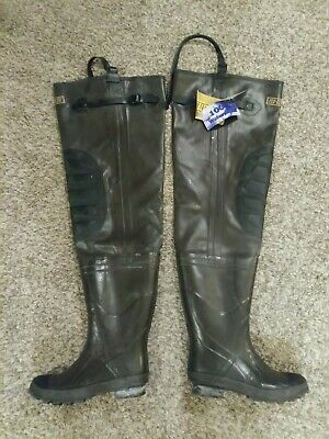 bf64a836350 FLO-LITE HIP BOOTS Waders Mens Size 6 Rubber Insulated Steel Shank  Waterproof.