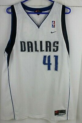 f97739b70eb Dirk Nowitzki Vintage Dallas Mavericks #41 Nike NBA Jersey Size XL Length +2