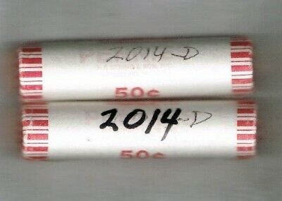 2014 Denver Brilliant Uncirculated Shield Lincoln Cent Roll of Fifty Coins!