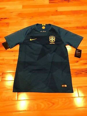 418a9e021e4 Nike Brazil Brasil World Cup Stadium Away Soccer Jersey 893855 453 Men s  MEDIUM