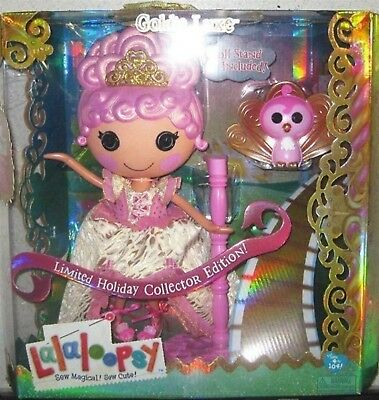 Lalaloopsy Goldie Lux , Limited Holiday Collector Edition! ( Large Doll) *Mib*