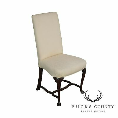 Hickory Chair Mahogany Queen Anne Small Upholstered Side Chair