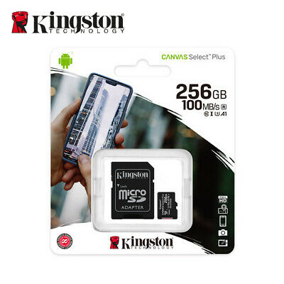 Kingston 256GB Micro SD UHS-I SDXC Class10 Tarjeta de Memoria 80MB/s + Adaptador