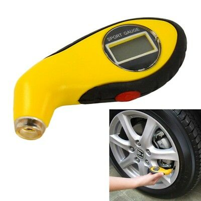 Portable Digital Tire Tyre Air Pressure LCD Gauge Tester Tool For AutoMotorcycle