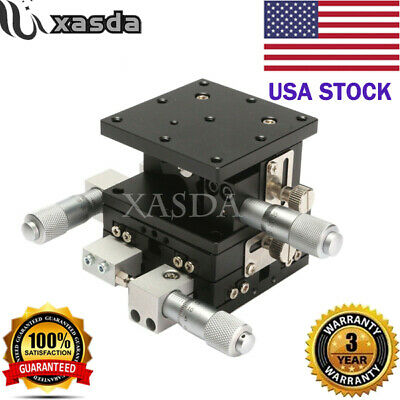XYZ 3 Axis Linear Stage Trimming Platform Bearing Tuning Sliding Table 60x60mm**