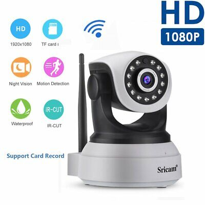 1080P HD Sricam Wireless IP Camera Home Security WiFi 2-WAY Audio Baby Monitor
