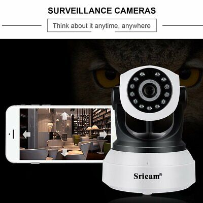 Sricam Wireless WiFi 1080P WLAN IP Network Camera Outdoor Two Way Security C BL
