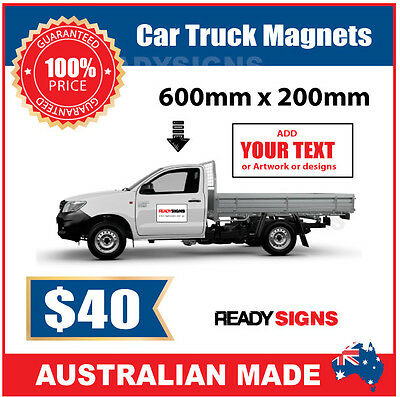 Car or Truck Door Magnet - Medium Size 20cm x 60cm - Australian Made