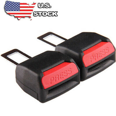 2x Universal Car Safety Seat Belt Buckle Extension Extender Clip Alarm Stopper