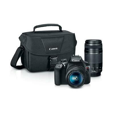 Canon EOS Rebel T6 DSLR with 18-55mm IS and 75-300mm III Lenses