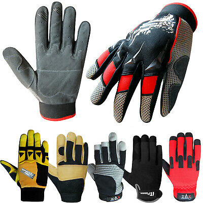 Mechanics Gloves Work Safety Tradesman Worker Farmer Industrial Gloves