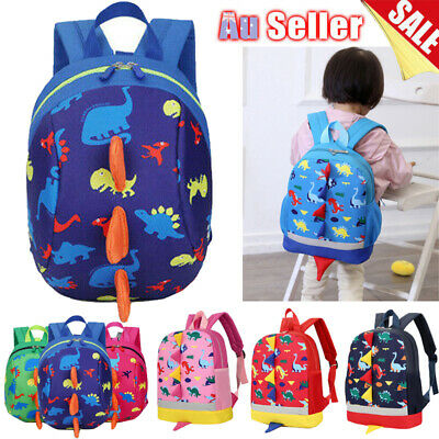 Baby Toddler Kids Dinosaur Safety Harness Strap Bag Backpack School Bag w/ Reins