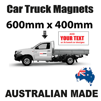 Car or Truck Door Magnet - Medium Size 40cm x 60cm - Australian Made
