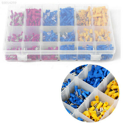 7B31 900Pcs Assorted Cold-pressed Electrical Cable Crimp Terminal Set 10-22AWG