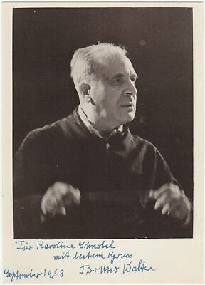 Walter, Bruno (composer) - Signed photograph