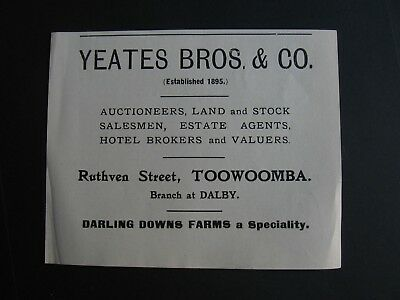 Yeates Bros. & Co. Ruthven St ,Toowoomba , Queensland
