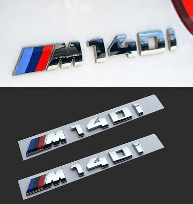 1pcs BMW M140i Emblem Chrom 3D Logo M für BMW M M1 Emblem M140 i ABS