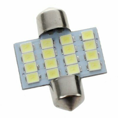3X(Feston C5W 16 SMD LED 31mm Bombilla Interior Bombilla lampara luz Blanco G DW