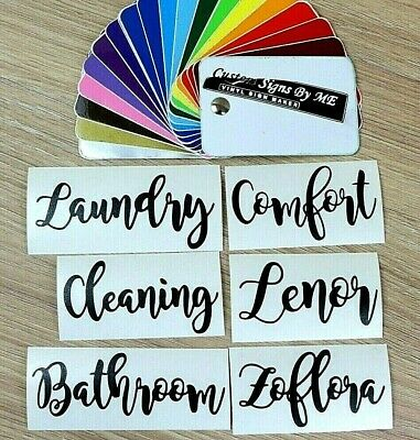 Personalised Cleaning Laundry Bathroom Zoflora Comfort Lenor Sticker Vinyl Decal